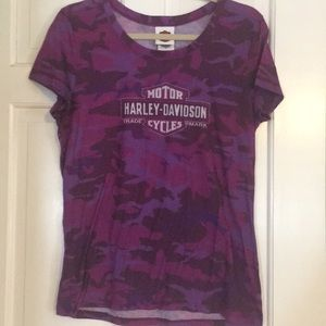 Ladies Harley Davidson, size L, T-shirt.